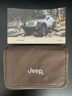 2017 Jeep Wrangler Owners Manual and Storage Bag