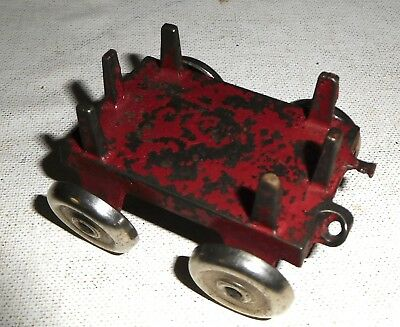 DENT 1930s cast iron toy PULL WAGON ---- Very rare antique iron toy