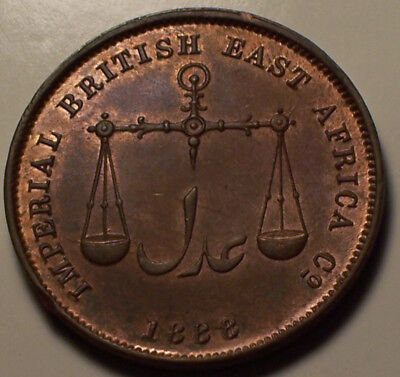 Mombasa, Imperial British East Africa Co. 1888 Victoria Pice.