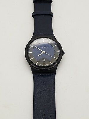 Skagen Men's Ultra Slim Titanium Mesh Band Black Watch 234Xxltbln