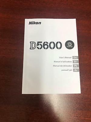 Nikon D5600 Users Manual English, Arabic, French, Portuguese