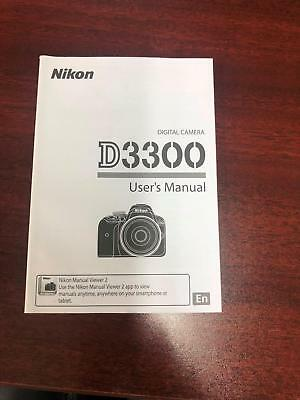 Nikon D3300 Digital Camera Users Manual English