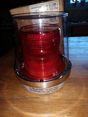Edwards Signaling AdaptaBeacon 49R-N5-40WH Flashing Red Light 40W NEW