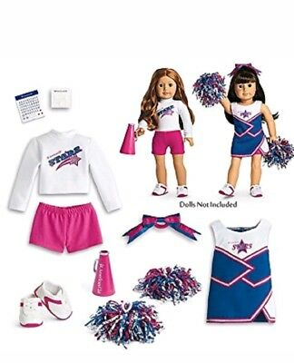 American Girl 2-in-1 cheer gear set Cheerleading Outfits NIB Truly Me Shoes NEW