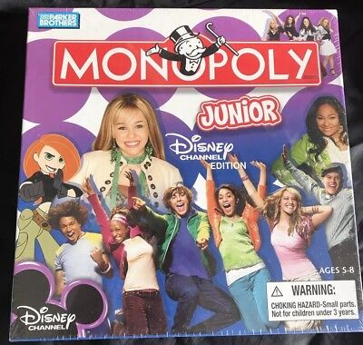 Monopoly Junior 2007 Disney Channel Edition Vintage Sealed In Box