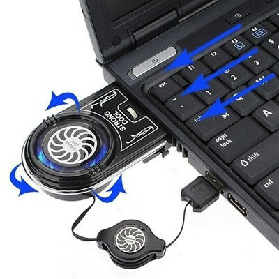 Pad Flexible USB Laptop Cooler Fan Radiator Air Extracting Cooling Fan Cooler