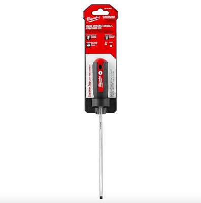 Milwaukee 3/16 x 6 inch Slotted Cabinet Tip Screwdriver Cushion Grip Driver Tool