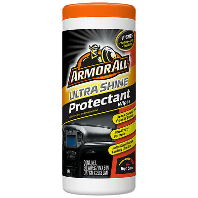 Armor All 20 ULTRA SHINE PROTECTANT WIPES Ultimate High Gloss Shine AUTO CARE