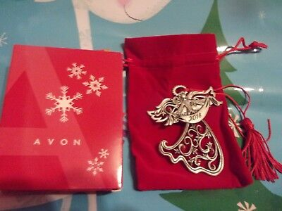 Avon 2018 Angel Pewter Ornament New In Box With Free Fast Shipping