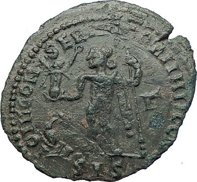 LICINIUS I 313AD Follis Genuine Ancient Roman Coin JUPITER EAGLE VICTORY i73662