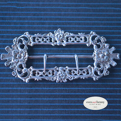 *Antique Large Victorian Silver Hallmarked Chester England Buckle