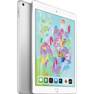 "Apple 9.7"" iPad 6th Gen 128GB Silver Wi-Fi MR7K2LL/A 2018 Model"