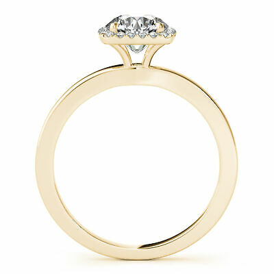 1.45 Ctw Round Ring H Si2 White Gold 14k Lab Grown Igi Certified Made To Order Jewelry & Watches Engagement Rings