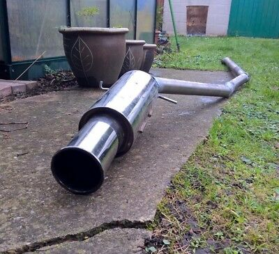 Mk1 Ford Fiesta Custom Full Stainless Steel Exhaust Modified