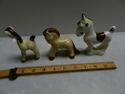Lot of 3 California Pottery Rio Hondo Hand Painted Horse Pony Nursery
