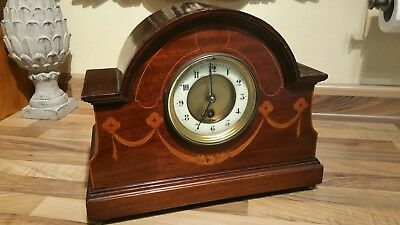 Antique French Mantel Clock Beautiful Old Vintage Rare Time Piece Made In France
