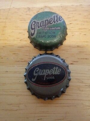 2 Vintage Grapette Soda Bottle Caps