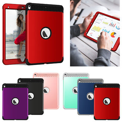 "Rugged Hybrid Shockproof Armor PC TPU Cover Case for iPad 9.7""2018/2017/Mini/Pro"