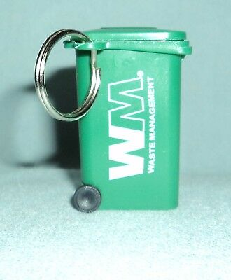 Waste Management Green Mini Trash Can Garbage Can Toy Keychain