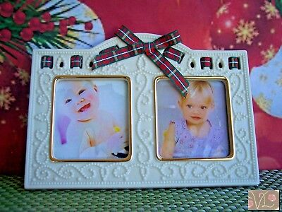 LENOX Giftables Double Picture Frame for Christmas Photos