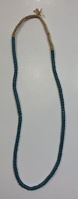 Native American Solid Color Trade Beads Raffia Strung Necklace Authentic RARE