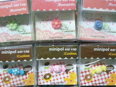 Dust Plug Ear Cap Phone Charm 6 Pc Assorted Flowers & Candy 3.5mm + FREE GIFT?a