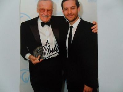 """Stan Lee """"American superheroes"""" 8x10 Signed Photo Auto"""