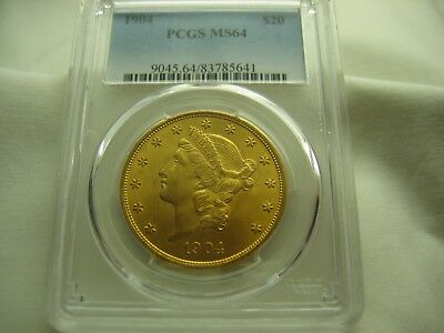 1904   Liberty Twenty Dollar Gold---Pcgs Ms64---Nice Coin --Priced To Sell