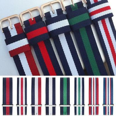 Replacement Nylon Watch Strap Band Military Army Diver 16mm 18mm 20mm 22mm
