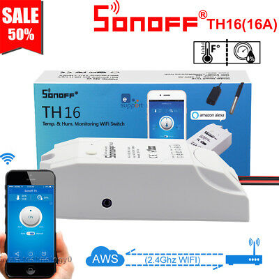 Sonoff TH16 16A Smart Wifi Switch Monitoring Temperature Humidity Smart Sensor