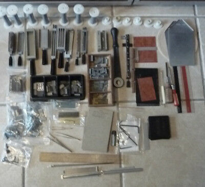 Kingsley M-60 Hot Foil Stamping & Embossing Lg Lot,  Type, Holders, Accessories