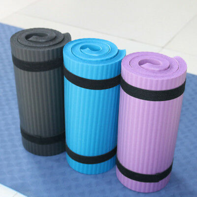 15MM Exercise Yoga Pad Mat Non Slip Durable Pilates Physio Fitness Gym Cushion