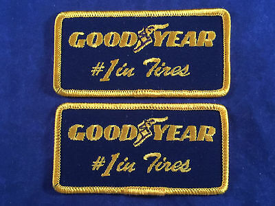 NOS New Old Stock Good Year #1 in Tires Uniform Shirt Chest Shoulder Patch LOT