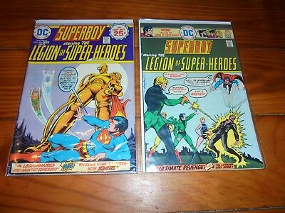 Superboy Legion of Super Heroes 206 and 211 Mike Grell