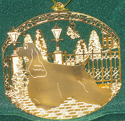 NEW IN BOX - Cocker Spaniel Dog 24k Gold Plated Ornament By Kingsheart Forge