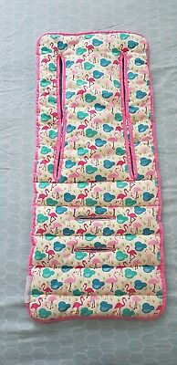 Keep me cosy Flamingo pram liner and harness cover