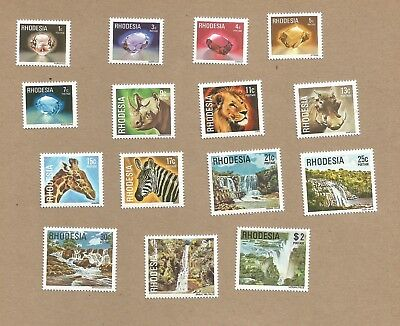 Rhodesia:: FULL SET of 15 diff MNH + 3 FDC. (One was Postally Used) (Ref 436)