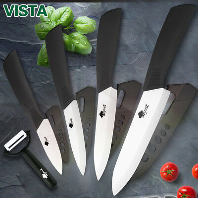 Ceramic Kitchen Knives Chef Slicing Knife Cook Set Peeler Fruit Slicer Parer Kit