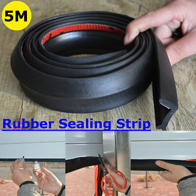 5m Garage Door Bottom Weather Stripping Rubber Seal Strip Replacement Seal