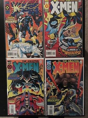 THE AMAZING X-MEN #1-4 (1995, Marvel)  AGE OF APOCALYPSE  COMPLETE SET NM