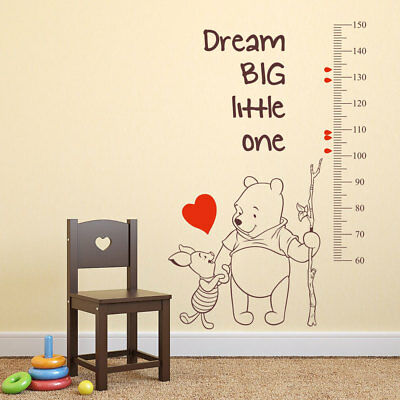 winnie the pooh growth chart wall stickers new baby nursery decals