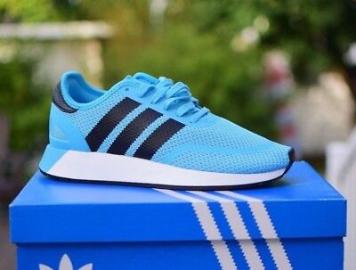 New Mens Adidas Originals N-5923 Shoes sz 9 Cyan Blue Black White B37956