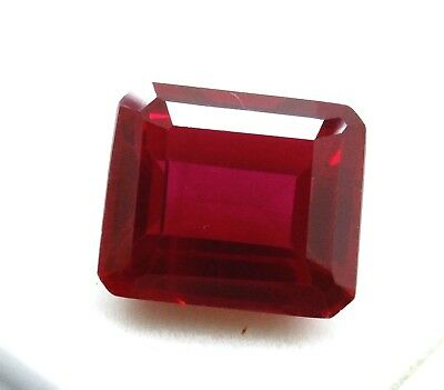 16.25 Ct Natural Mozambique Blood Red Ruby Manik Emerald Cut Gems Ggl Certified