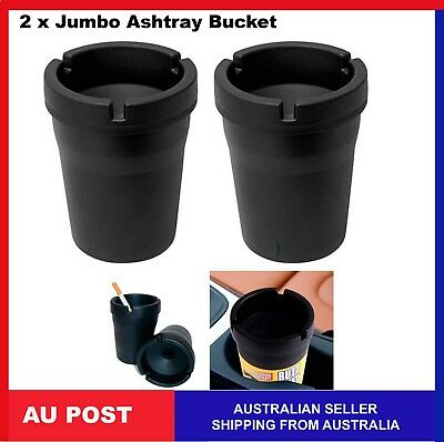 2 X Ashtray Bucket Cigarette Tobacco Color Holder Ash Container Jumbo size