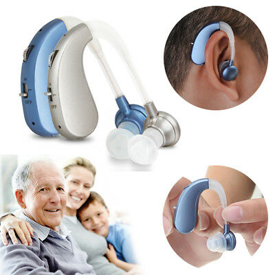 New Rechargeable Digital Hearing Aid Severe Loss BTE Ear Aids HIGH-POWER Gift