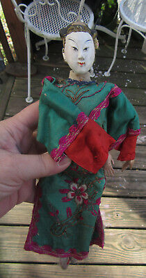 """Japanese  antique figure man wired 10.5"""" figure-doll"""