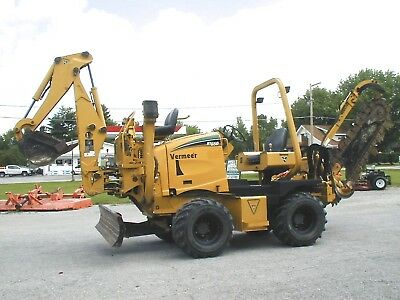 2009 Vermeer Rt650 Trencher / Backhoe  Only 300 Hours! Nationwide Shipping!