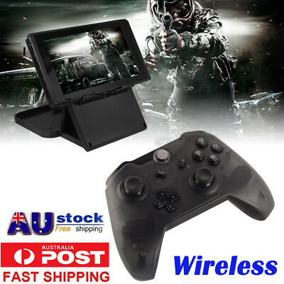 Black Wireless Vibration Pro Controller For Nintendo Switch Video Game Console