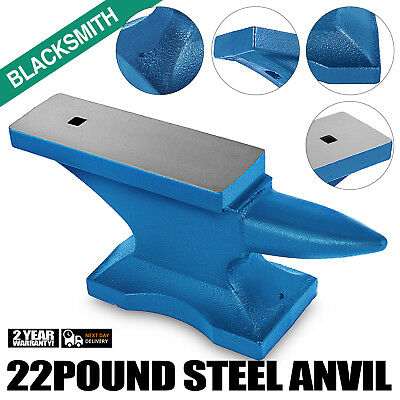 Iron Anvil Blacksmith Cast Iron Single Horn 10KG With 10mm Square Hole