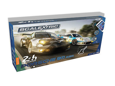 Wow Scalextric 1359 Arc Air Lemans Slot Car Racing Track Set Wireless Control ^